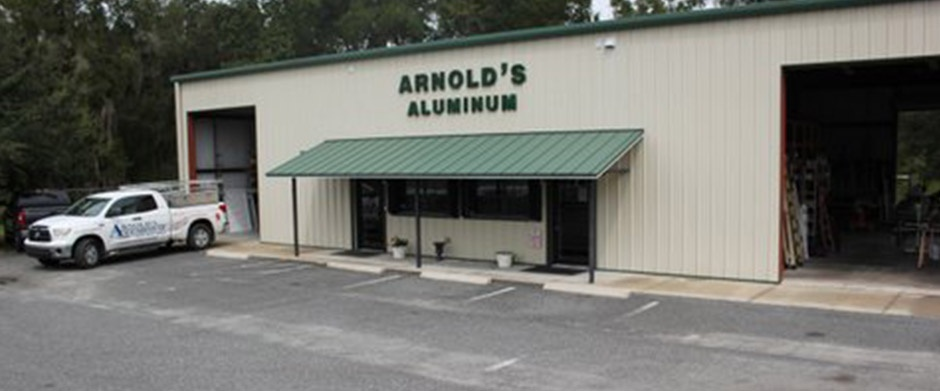 Arnold's Aluminum storefront